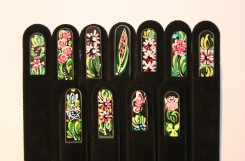 Hand painted glass fingernail files